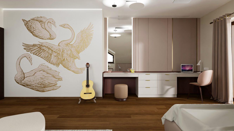 Projekt pokoju nastolatki w domu na Mazurach