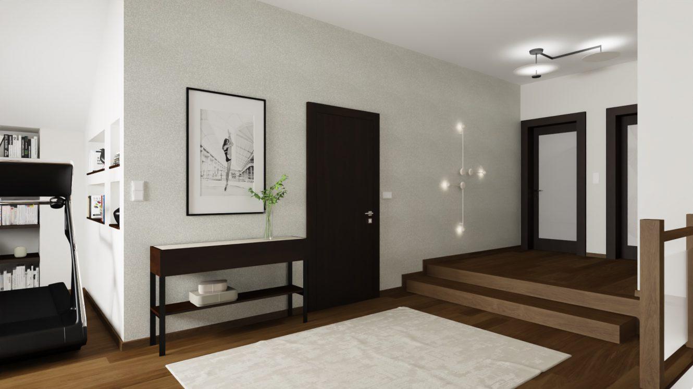 Projekt korytarza w domu na Mazurach