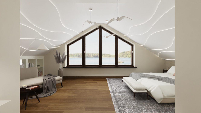 Projekt pokoju gościnnego w domu na Mazurach