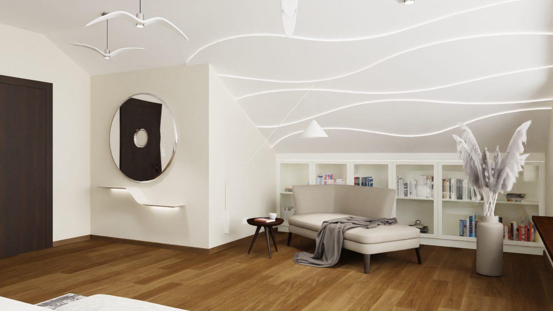 Projekt pokoju dla gości w domu na Mazurach