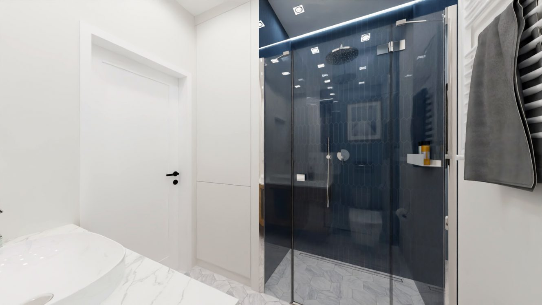 Projekt łazienki w mieszkaniu w Piastowie