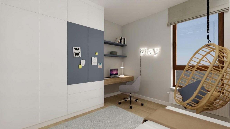 Projekt pokoju dziecięcego w mieszkaniu w Piastowie