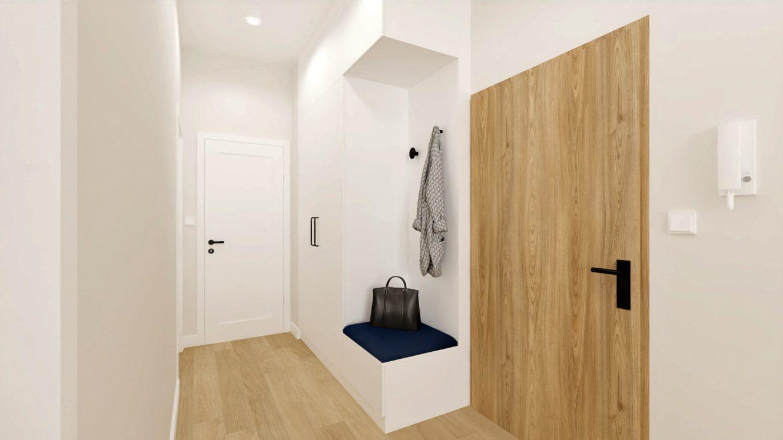 Projekt przedpokoju w mieszkaniu w Piastowie