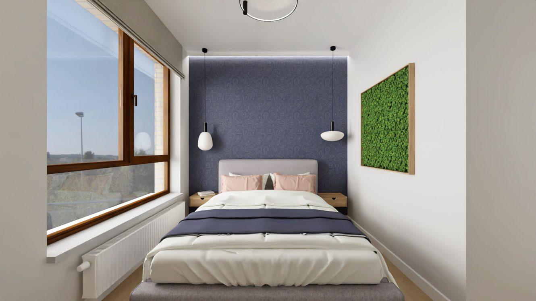 Projekt sypialni w mieszkaniu w Piastowie