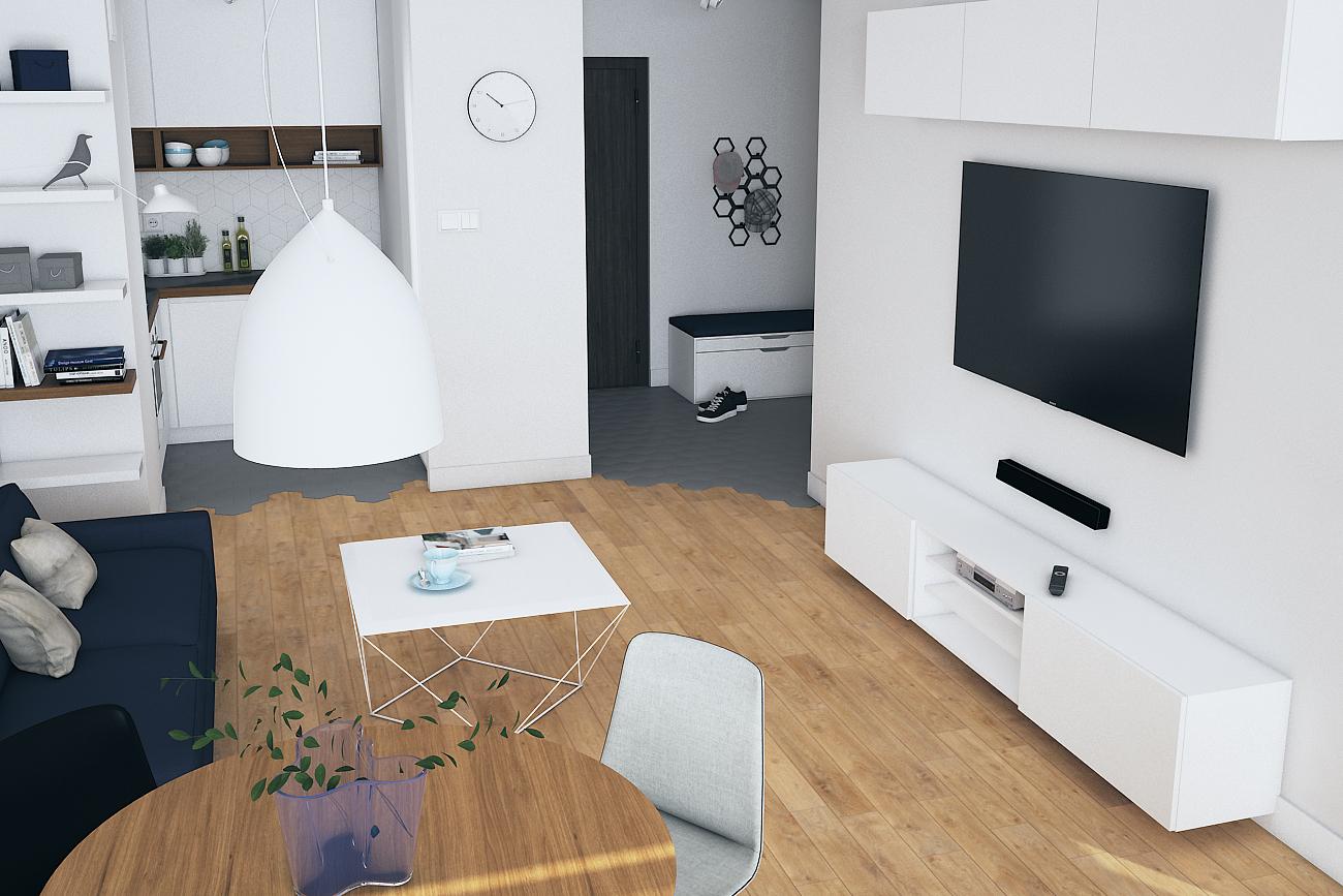 Projekt mieszkania dla singla w Warszawie