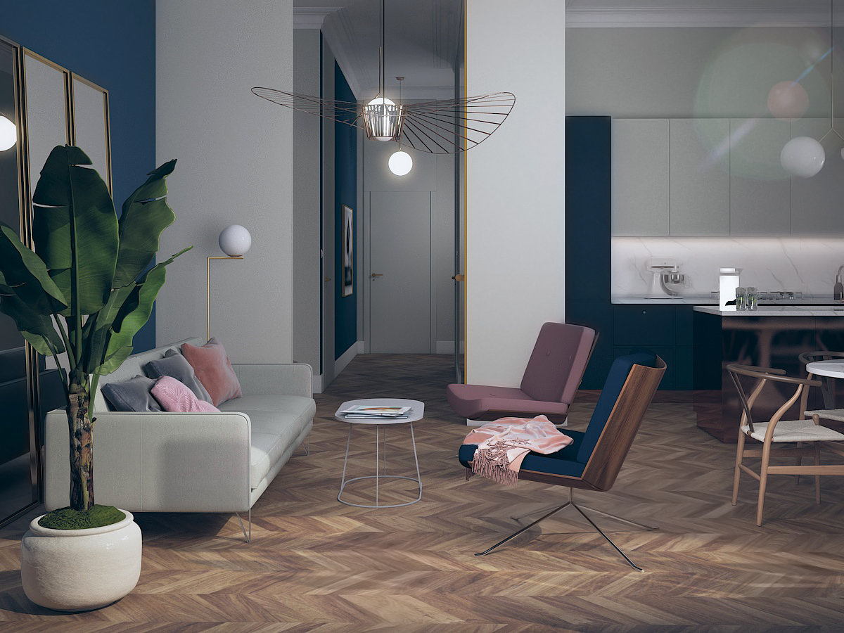 Projekt nowoczesnego przedpokoju w mieszkaniu w Warszawie
