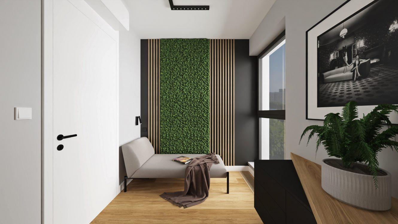 Projekt gabinetu w loftowym mieszkaniu w Warszawie