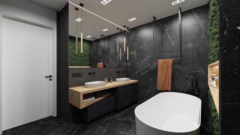 Projekt łazienki w loftowym mieszkaniu w Warszawie