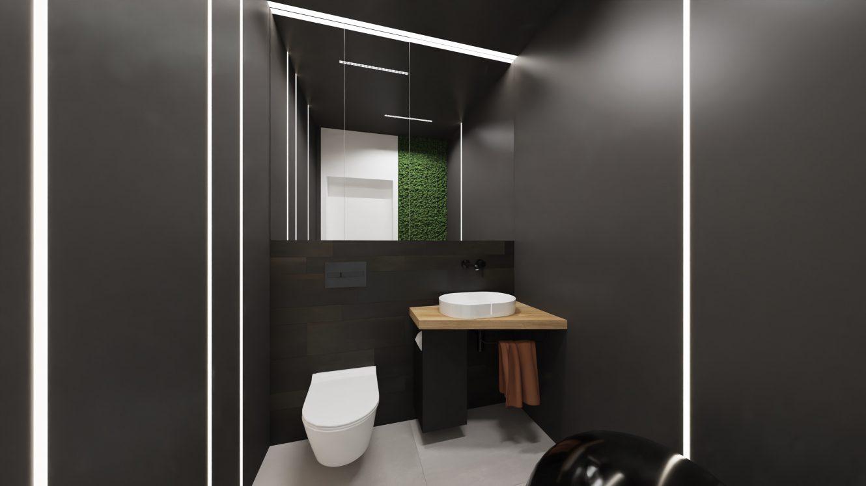 Projekt loftowej łazienki w mieszkaniu w Warszawie