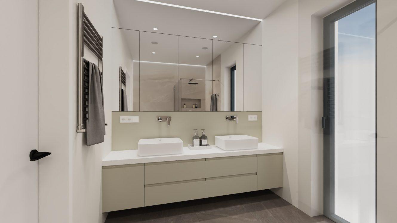 Projekt minimalistycznej łazienki w domu pod Warszawą