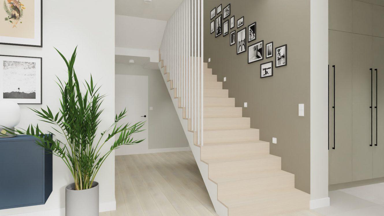 Projekt schodów w domu pod Warszawą