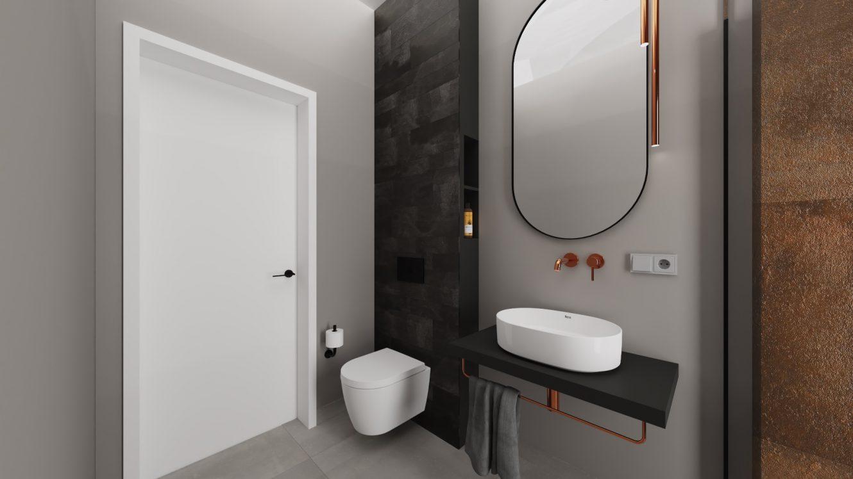 Projekt minimalistycznej łazienki w mieszkaniu w Warszawie