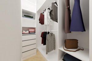 Projekt nowoczesnej garderoby w mieszkaniu w Warszawie