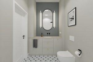 Projekt nowoczesnej łazienki w mieszkaniu na warszawskiej Woli