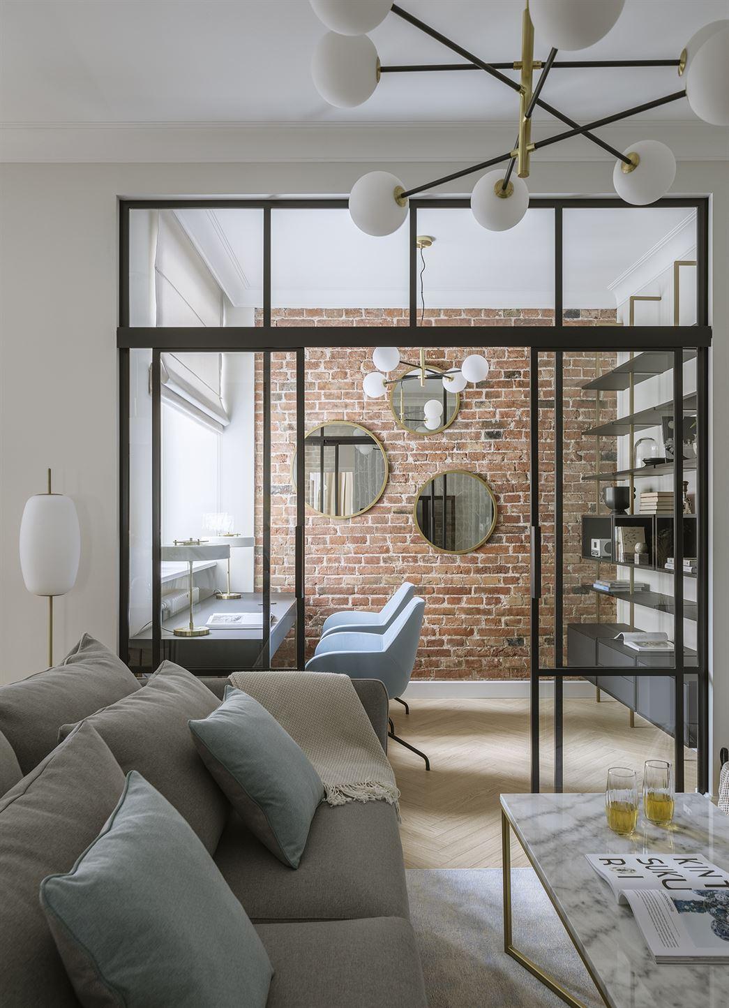 Projekt klasycznego i nowoczesnego mieszkania w Warszawie