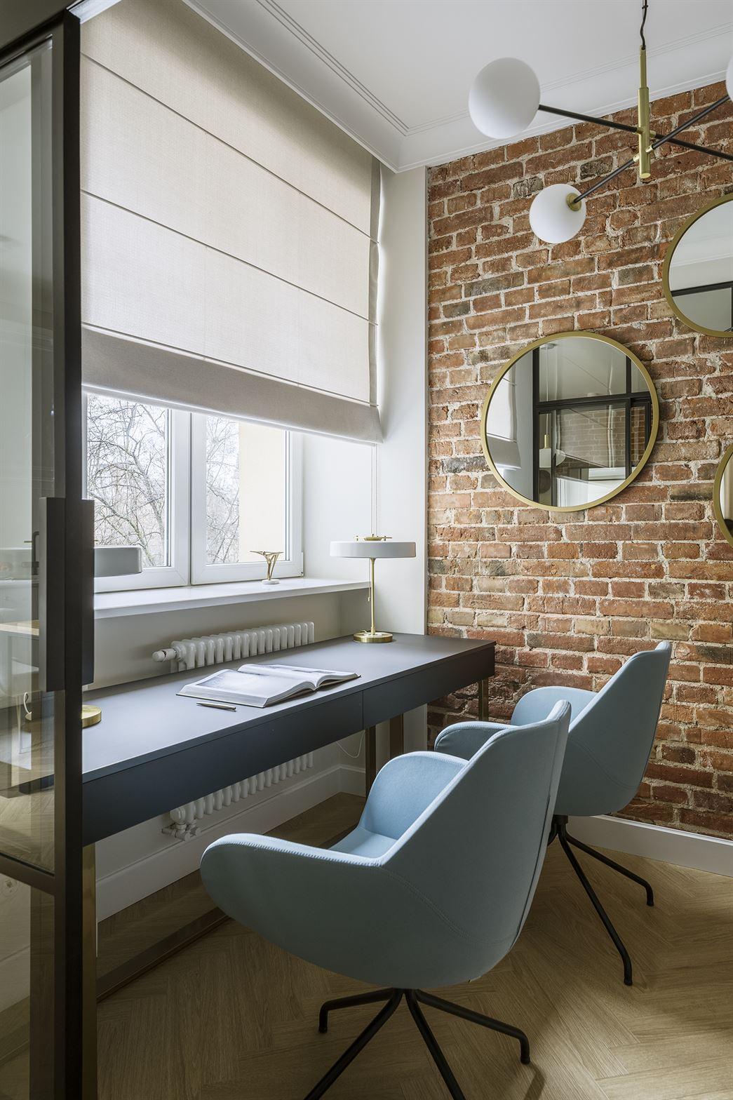 Projekt nowoczesnej przestrzeni do pracy w mieszkaniu w Warszawie
