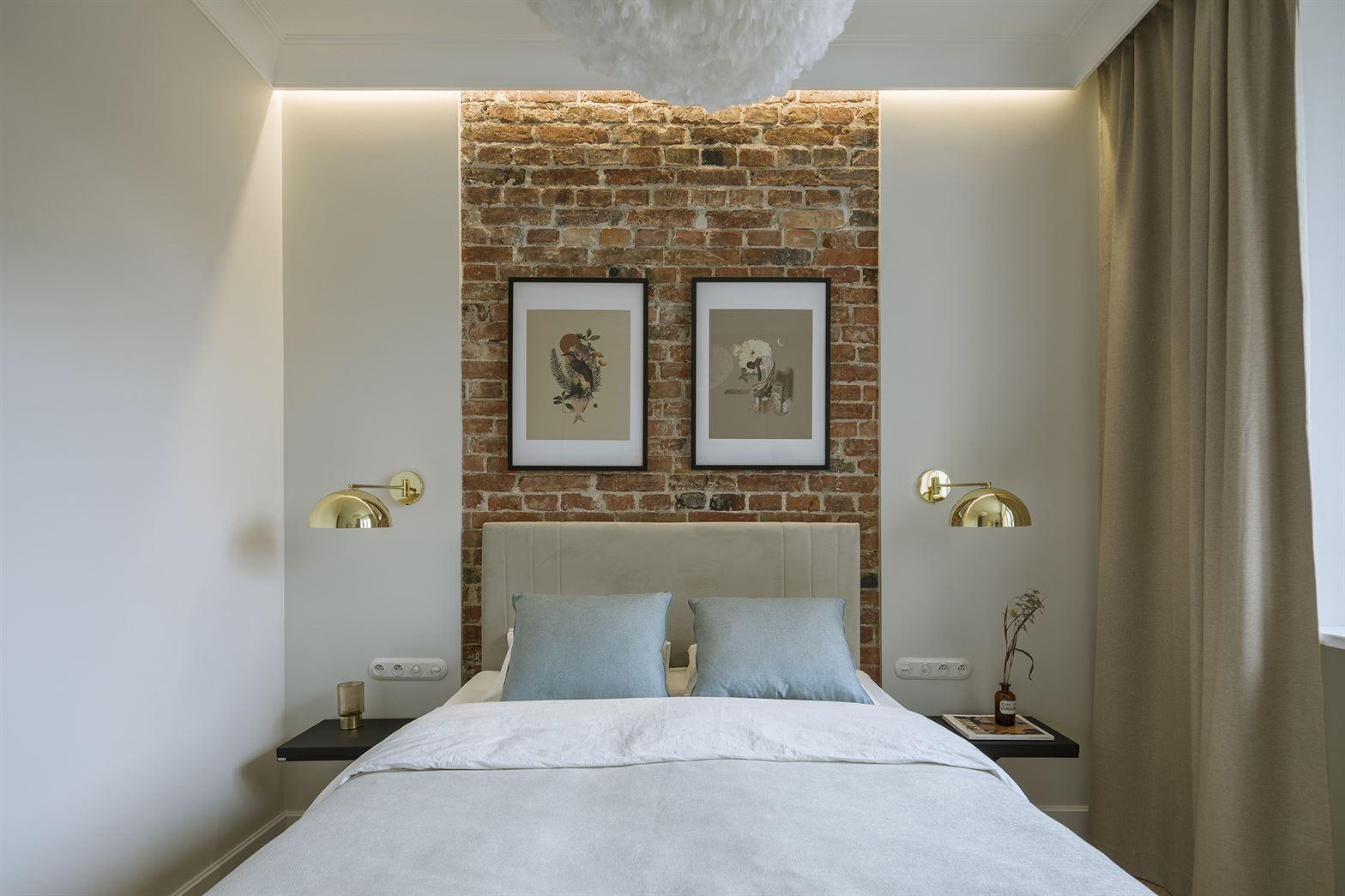 Projekt klasycznej i nowoczesnej sypialni w mieszkaniu w Warszawie