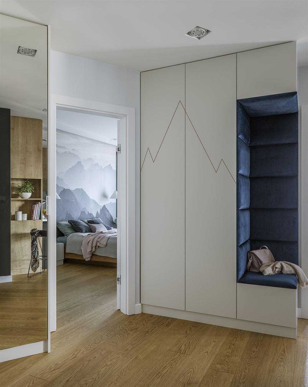Projekt przedpokoju w mieszkaniu w Warszawie