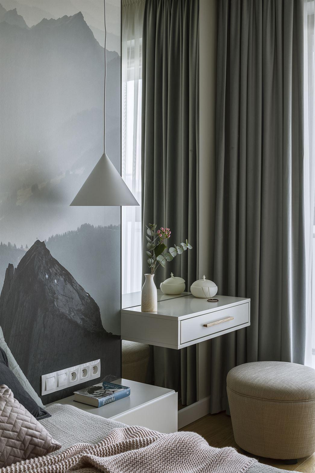 Projekt sypialni w mieszkaniu w Warszawie