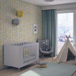 Projekt kolorowego pokoju dziecku w mieszkaniu w Warszawie
