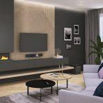 Projekt przestronnego salonu w mieszkaniu w Warszawie