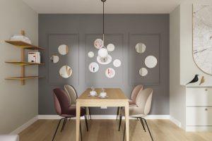 Projekt salonu w mieszkaniu w Warszawie