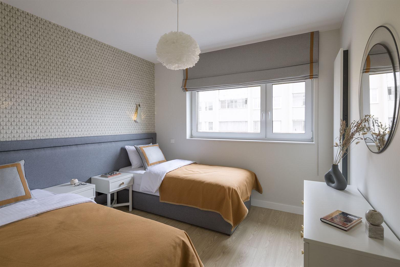 Projekt sypialni na warszawskim Muranowie