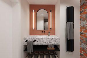 Projekt łazienki w mieszkaniu w Warszawie