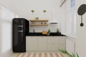 Projekt jasnej kuchni w mieszkaniu w Warszawie