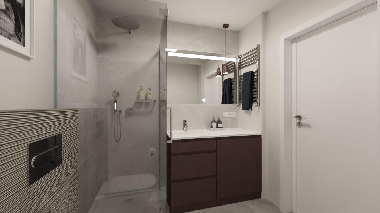 Projekt kobiecej łazienki w mieszkaniu w Warszawie