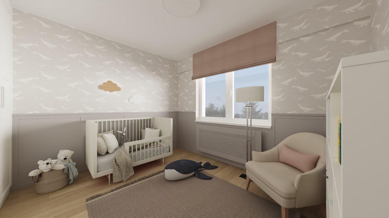 Projekt stylowego pokoju dziecięcego w mieszkaniu w Warszawie