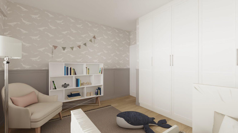 Projekt stylowego pokoju dziecka w mieszkaniu w Warszawie