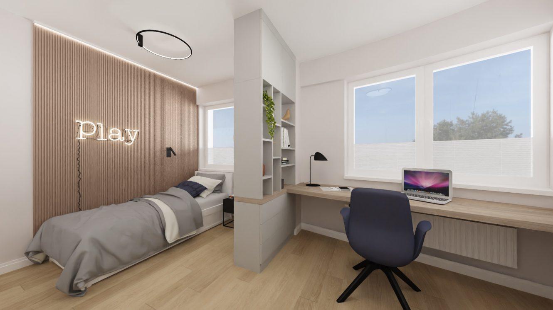 Projekt stylowego pokoju nastolatka w mieszkaniu w Warszawie