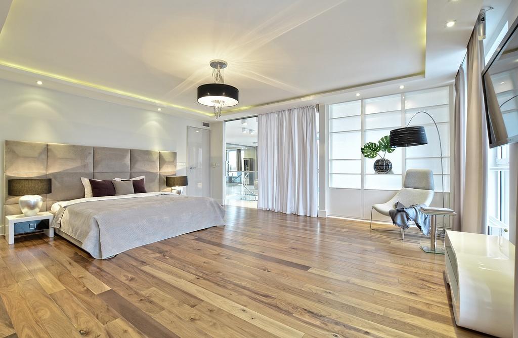 Home staging sypialni w apartamencie w Warszawie