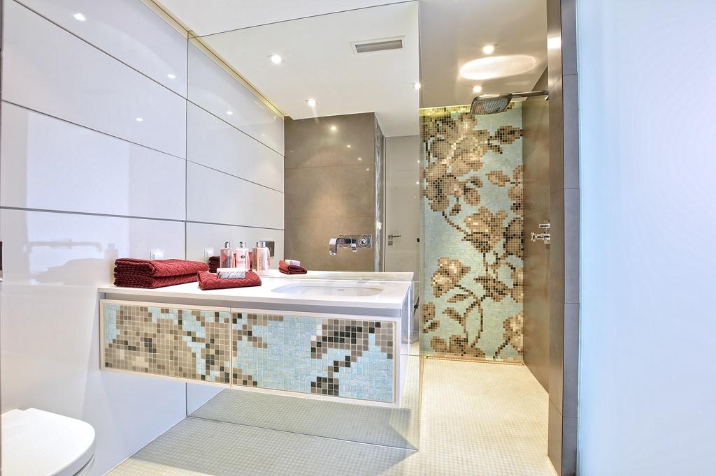 Home staging łazienki w apartamencie w Warszawie