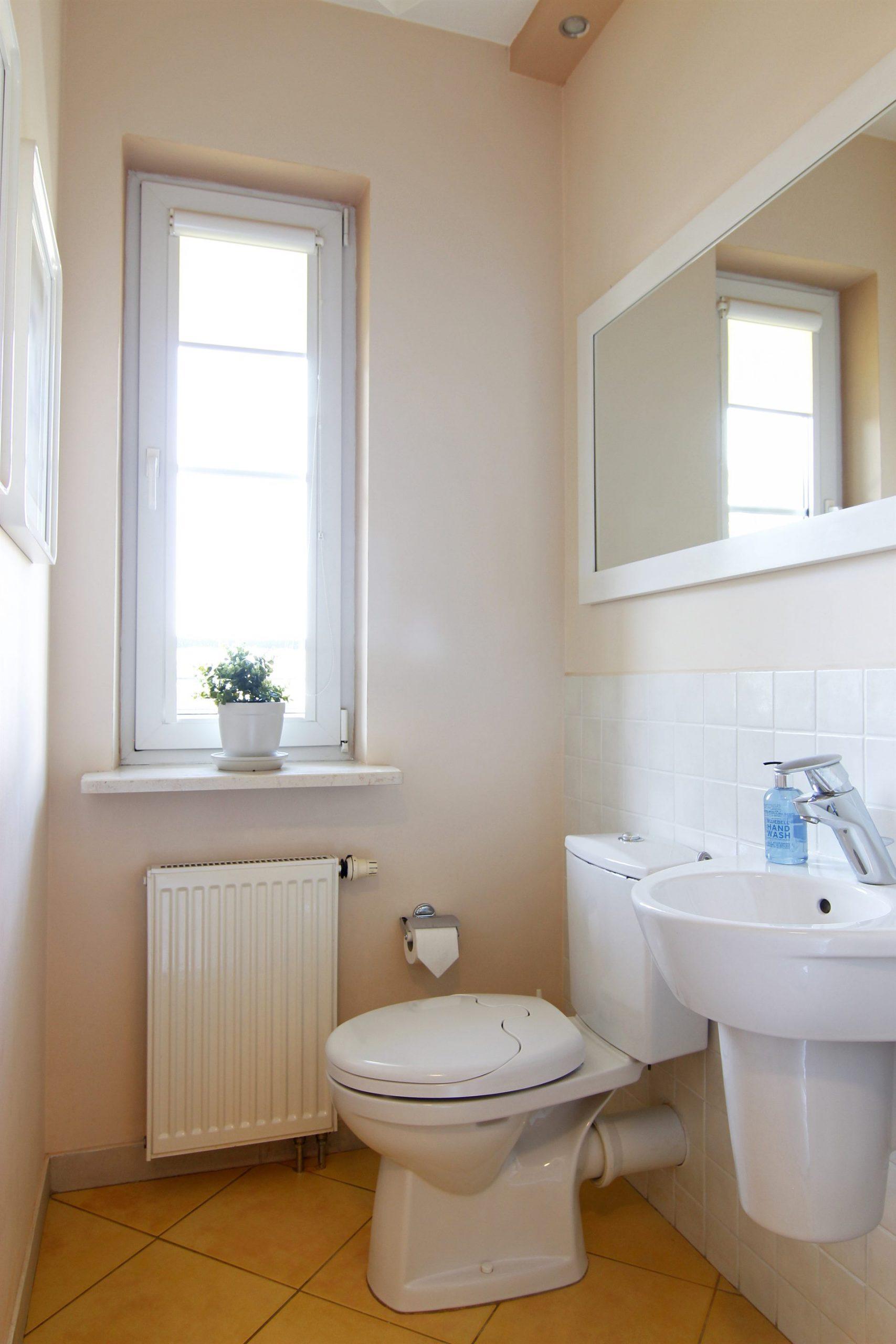 Home staging toalety w mieszkaniu w Warszawie
